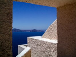 Window to Santorini